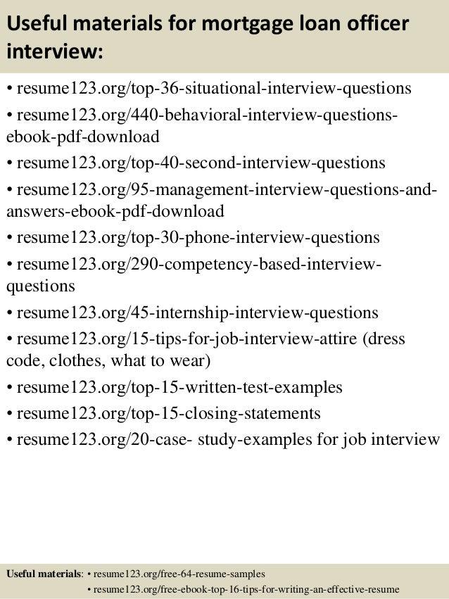 ... 12. Useful Materials For Mortgage Loan Officer ...  Loan Officer Job Description For Resume