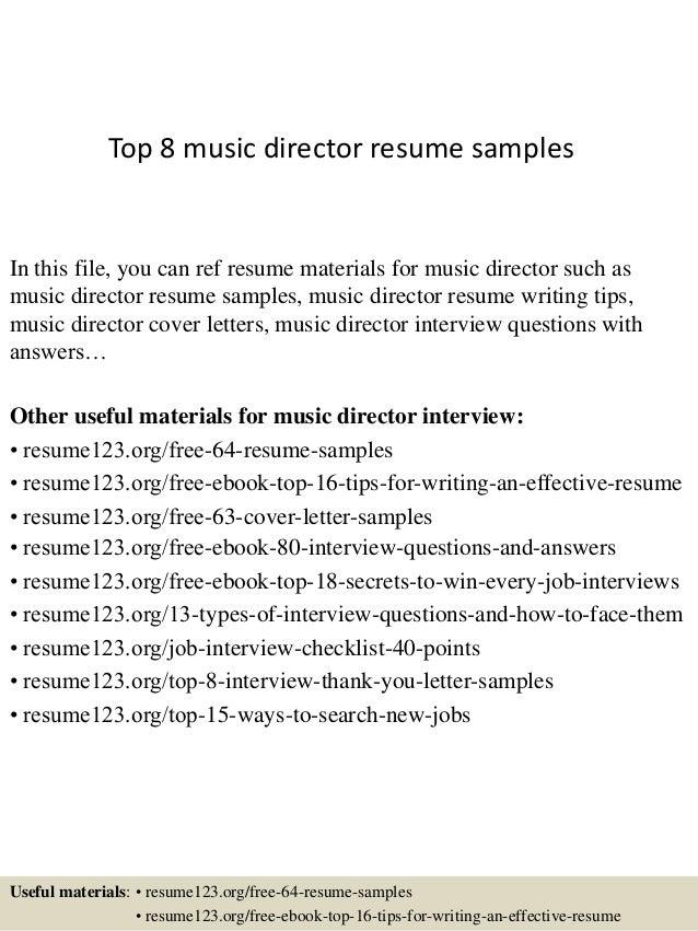 Sample Music Resume - Solomei.com