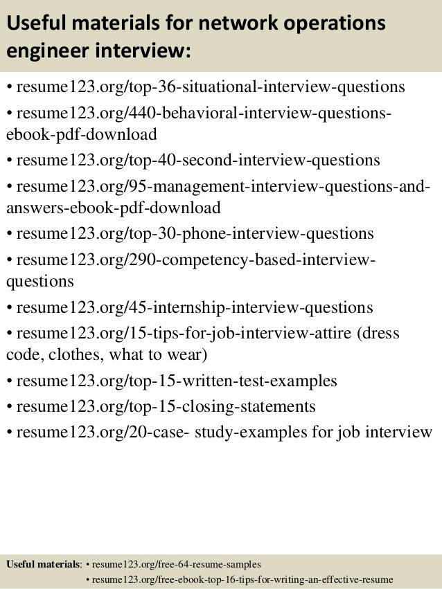 Top 8 network operations engineer resume samples