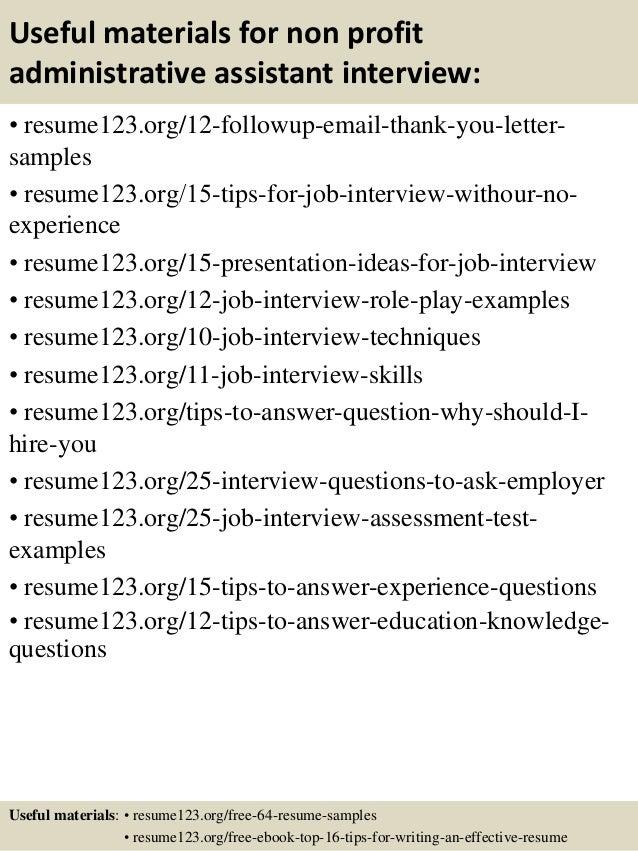 top 8 non profit administrative assistant resume samples
