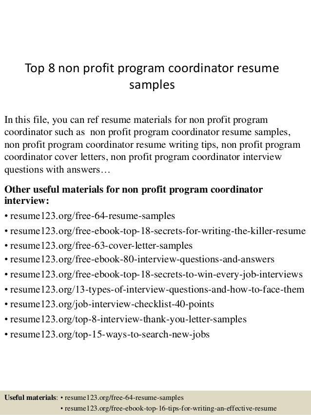 non profit resume sample