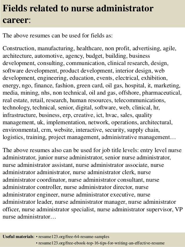 Top 8 nurse administrator resume samples 16 fields related to nurse administrator yelopaper Choice Image