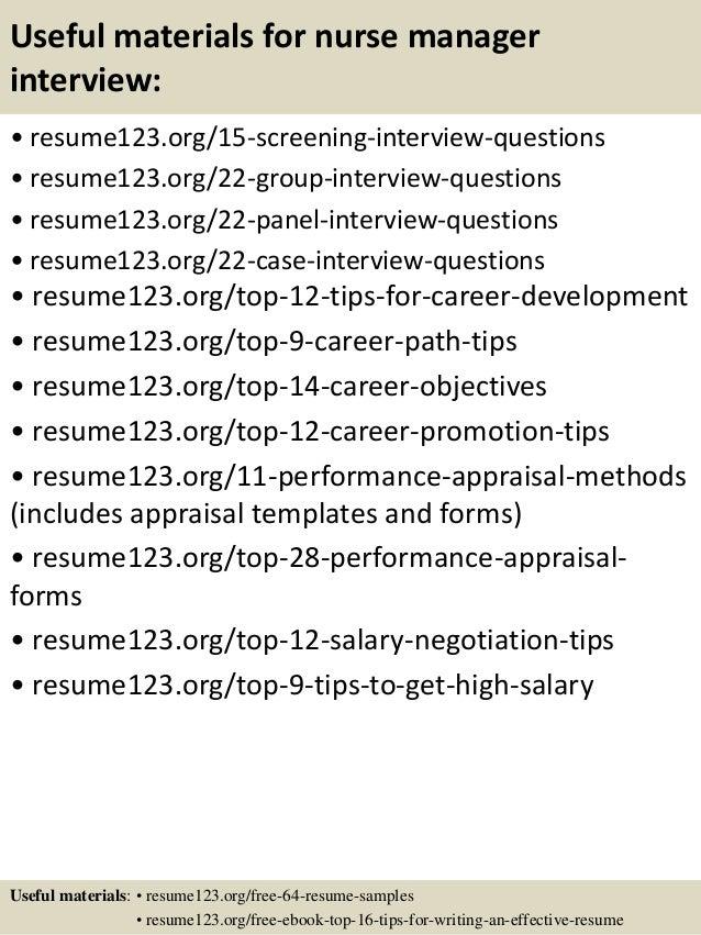 Top 8 Nurse Manager Resume Samples