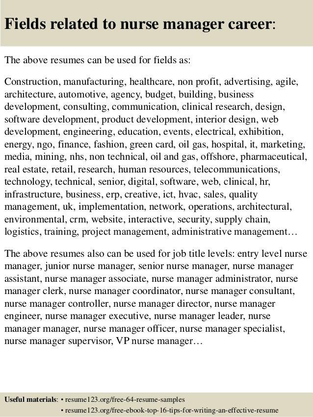 nurse manager resume sample nurse manager resume cv job