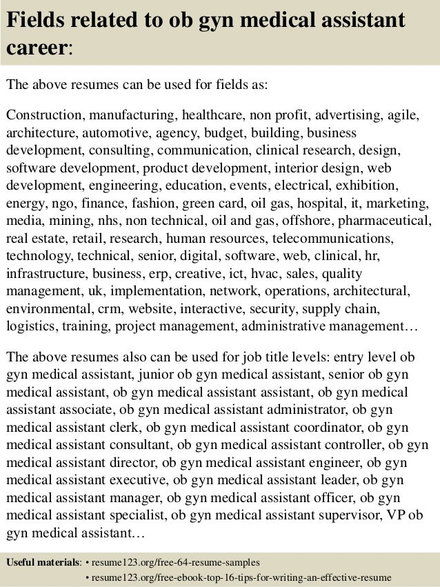 top 8 ob gyn medical assistant resume samples