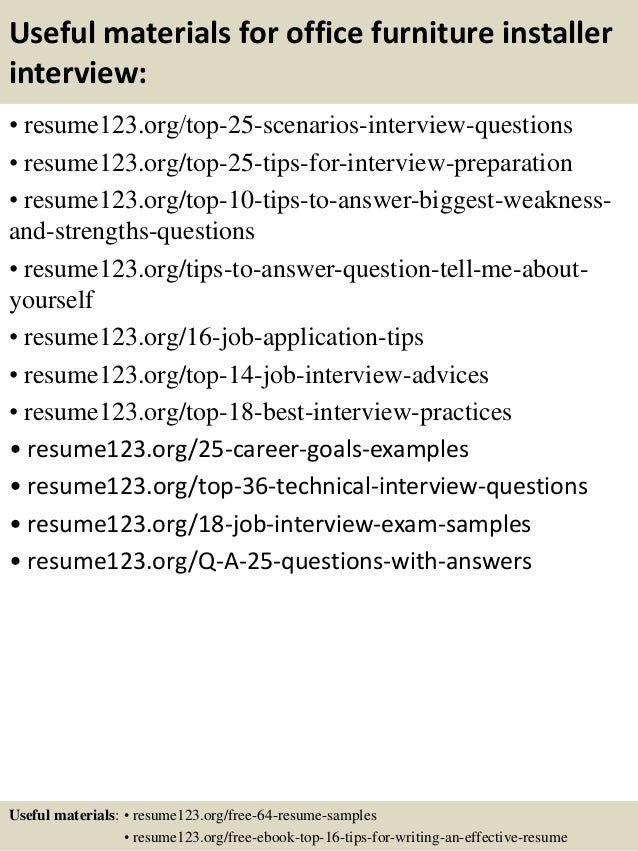 furniture sales resume