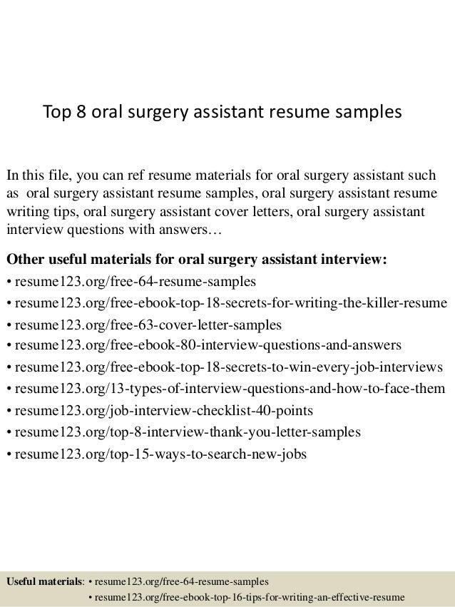oral resume