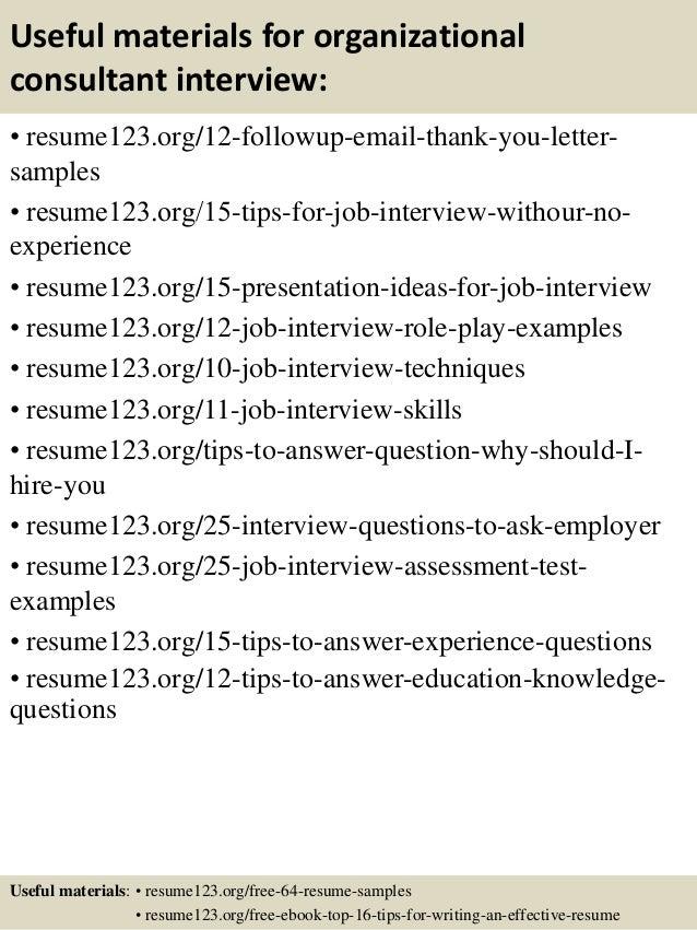 top 8 organizational consultant resume samples
