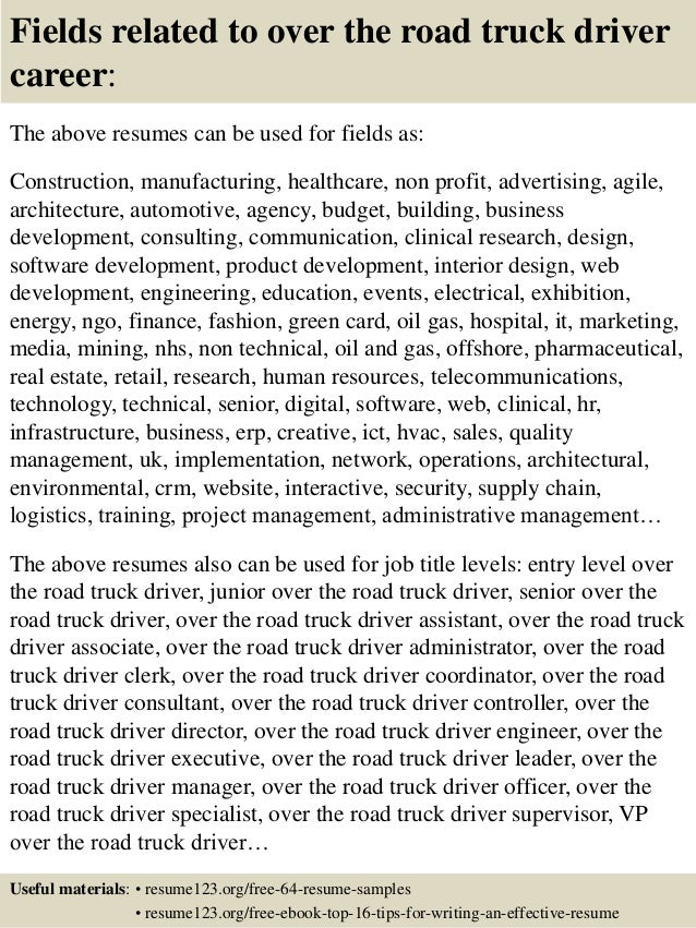 free truck driver resume templates driving samples top road