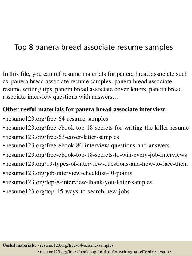 Panera resume