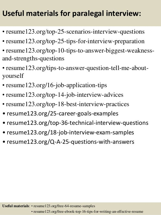 13 useful materials for paralegal - Paralegal Resume Samples