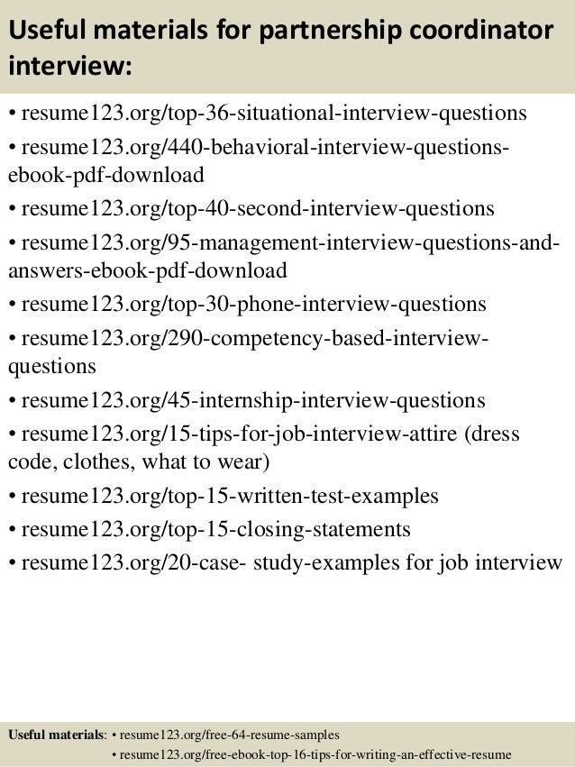 Top 8 Partnership Coordinator Resume Samples