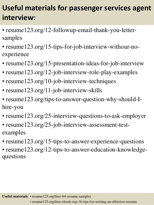 Top 8 passenger services agent resume samples