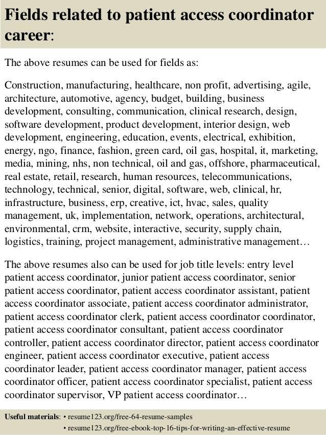 patient access resume