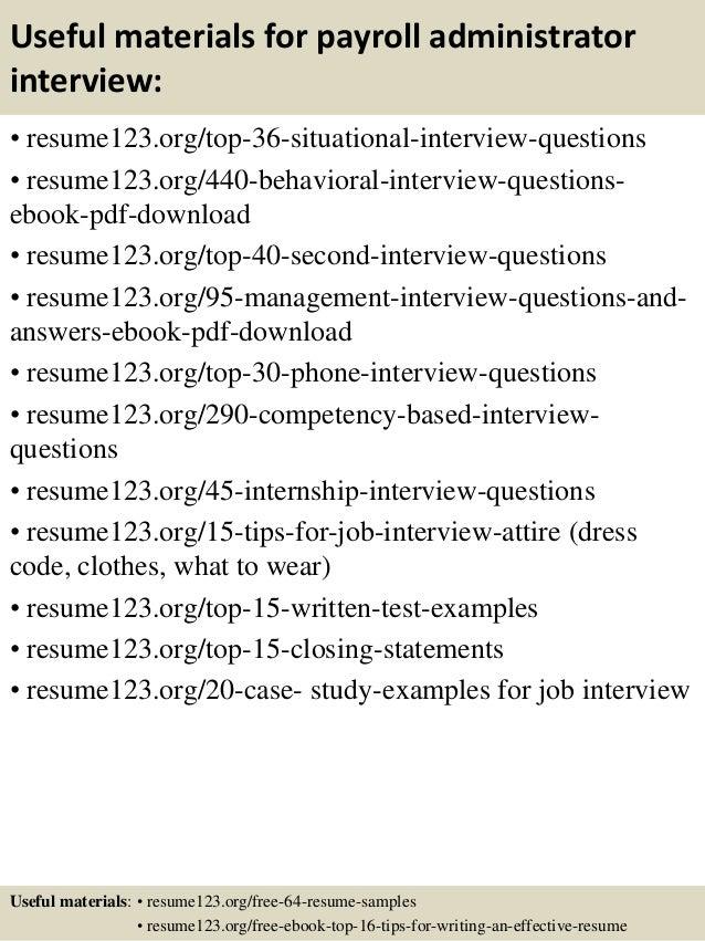Top 8 payroll administrator resume samples