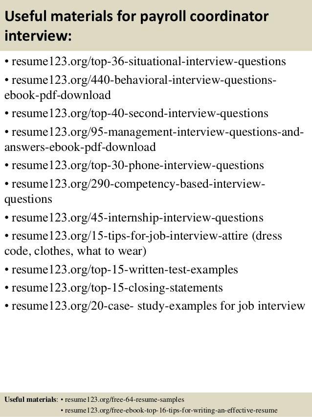 Top 8 payroll coordinator resume samples – Payroll Coordinator Job Description