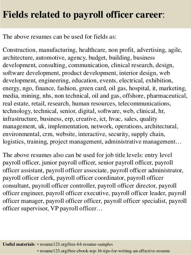 Payroll cv sample.