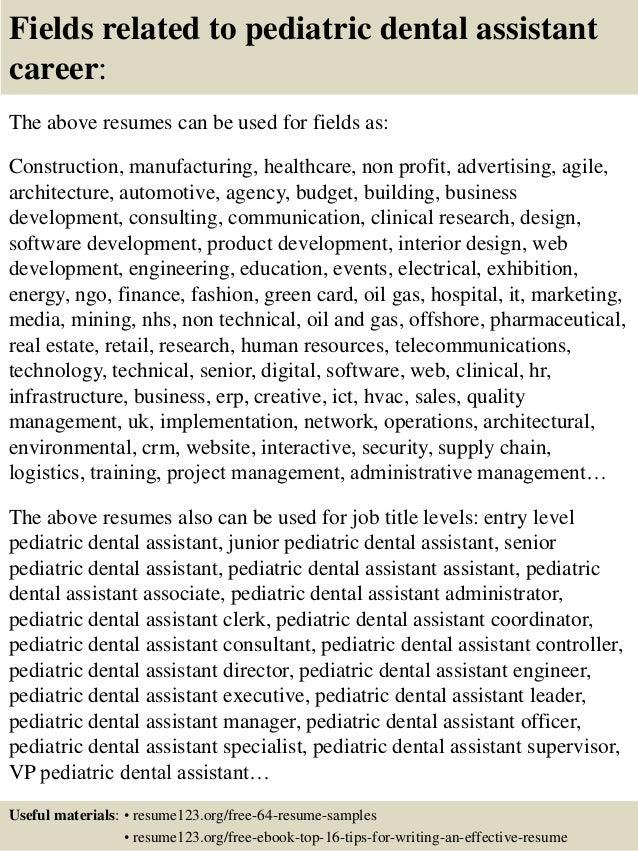 Top 8 pediatric dental assistant resume samples – Resume Sample for Dental Assistant
