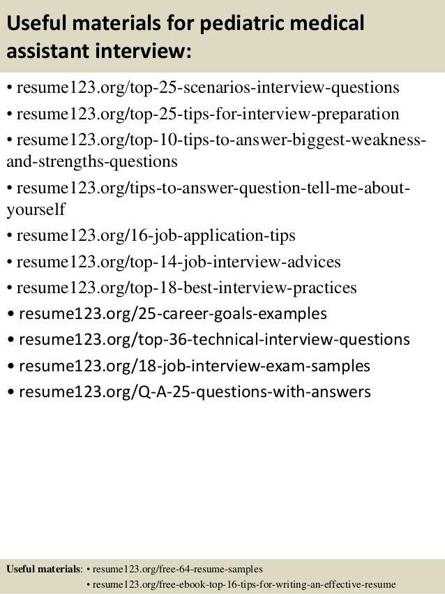 Pediatric Medical Assistant Sample Resume] Professional Pediatric