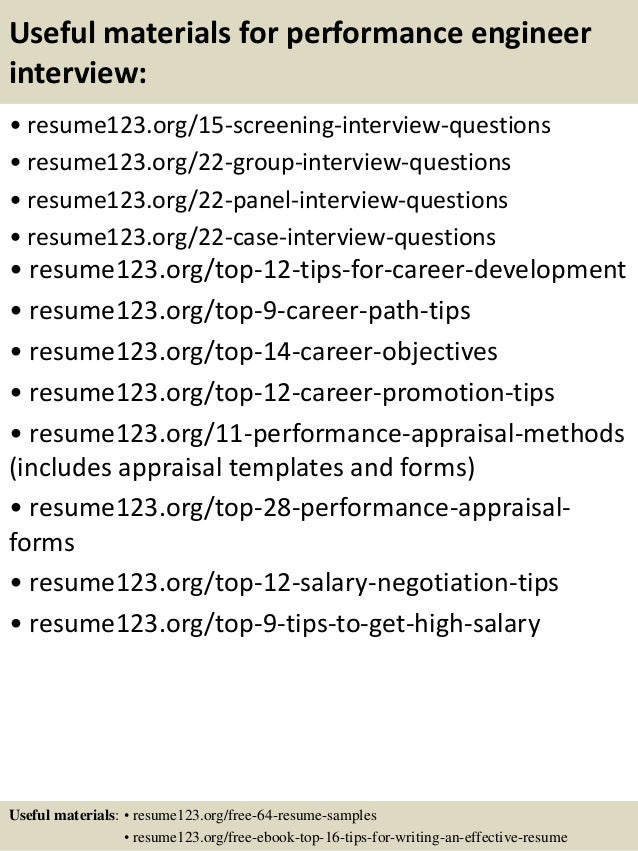 performance resume template
