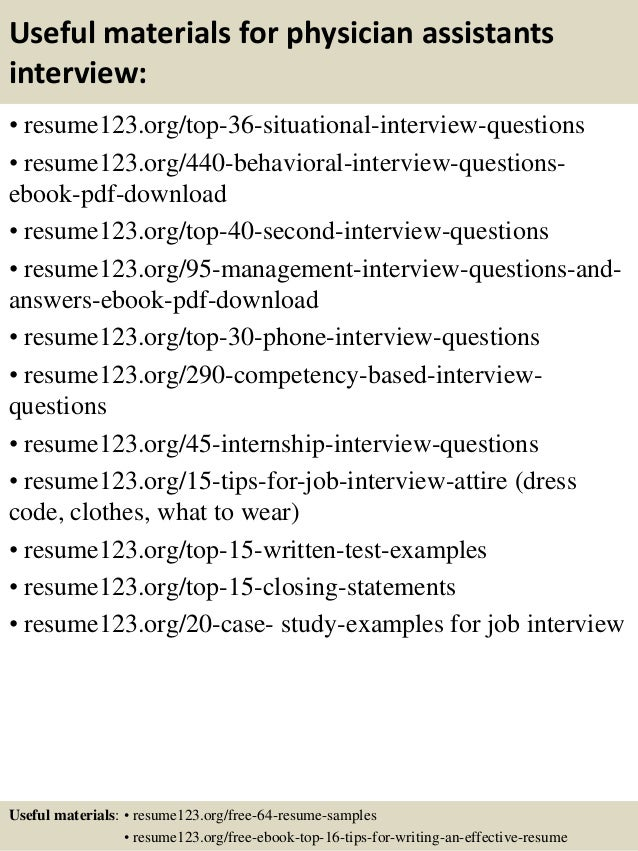 ... 12. Useful Materials For Physician Assistants ...