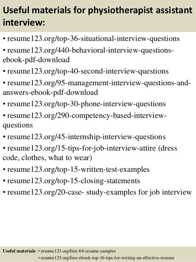 Top 8 physiotherapist assistant resume samples 12 useful materials for physiotherapist yelopaper Gallery