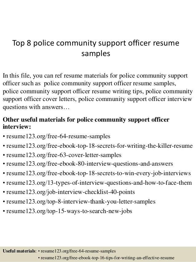 Police Resume. 7+ Sample Law Enforcement Resume 7+ Sample Law ...