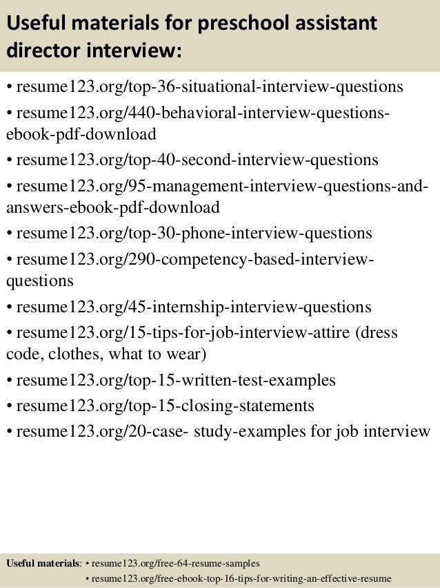 Superb ... 12. Useful Materials For Preschool Assistant Director ...