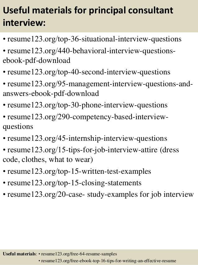 12 useful materials for principal - Principal Architect Sample Resume