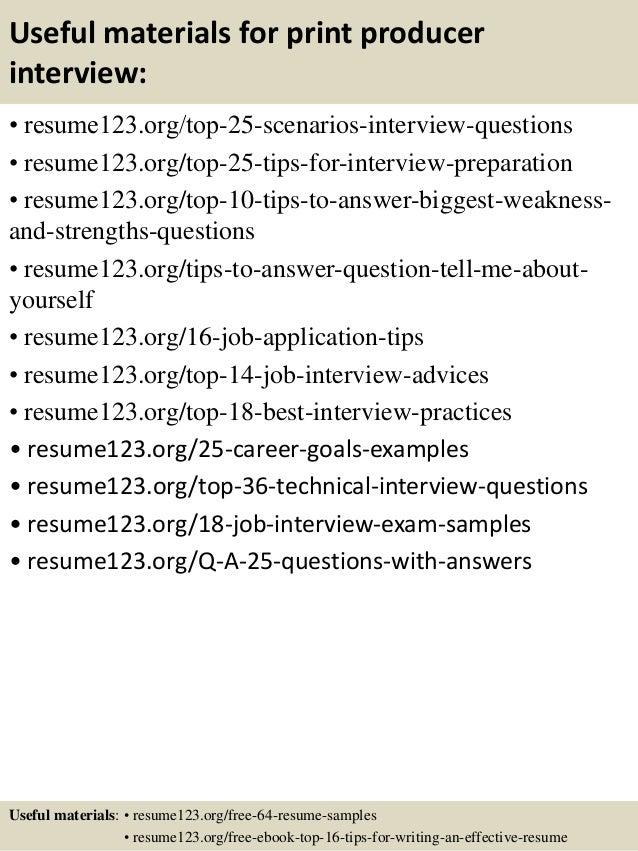 13 useful materials for print - Print Resume