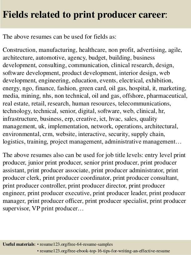 associate producer resume sample show producer sample resume