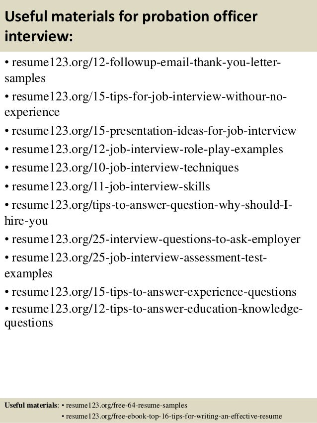 Top 8 probation officer resume samples – Probation Officer Resume Examples