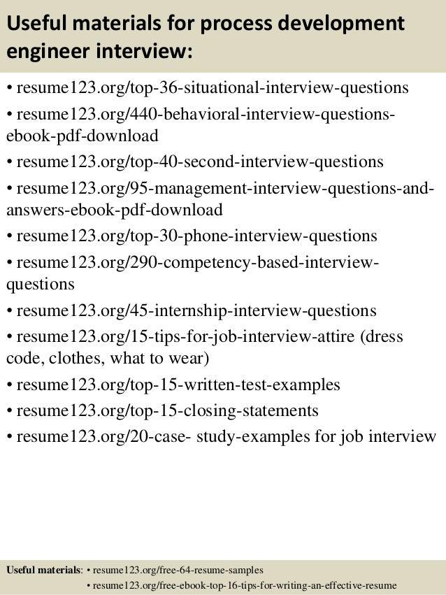 process engineer resumes
