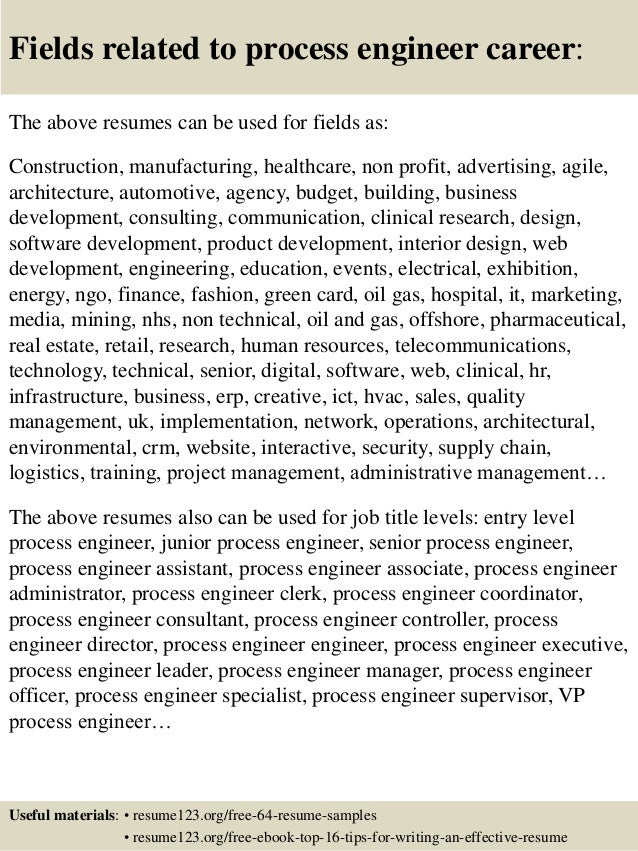 download process engineer resume sample resume examples visualcv - Process Engineer Resume