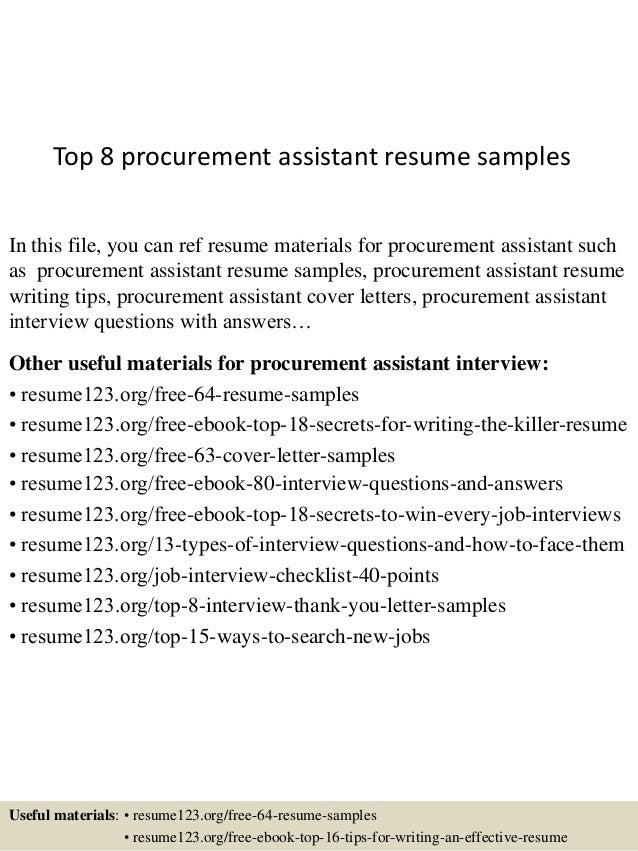 top-8-procurement-assistant-resume-samples-1-638.jpg?cb=1430028165