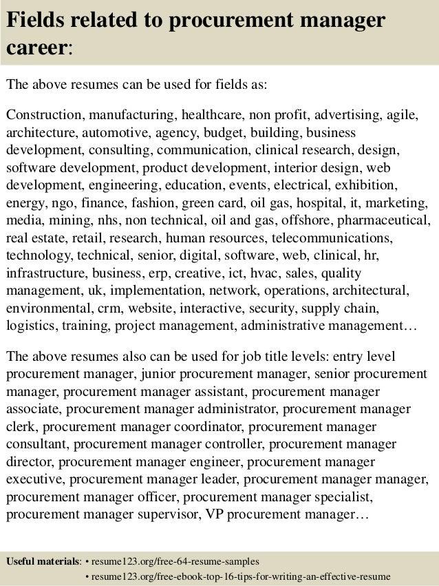 procurement manager resumes
