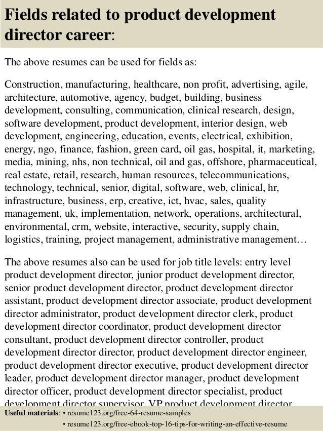 product development resumes