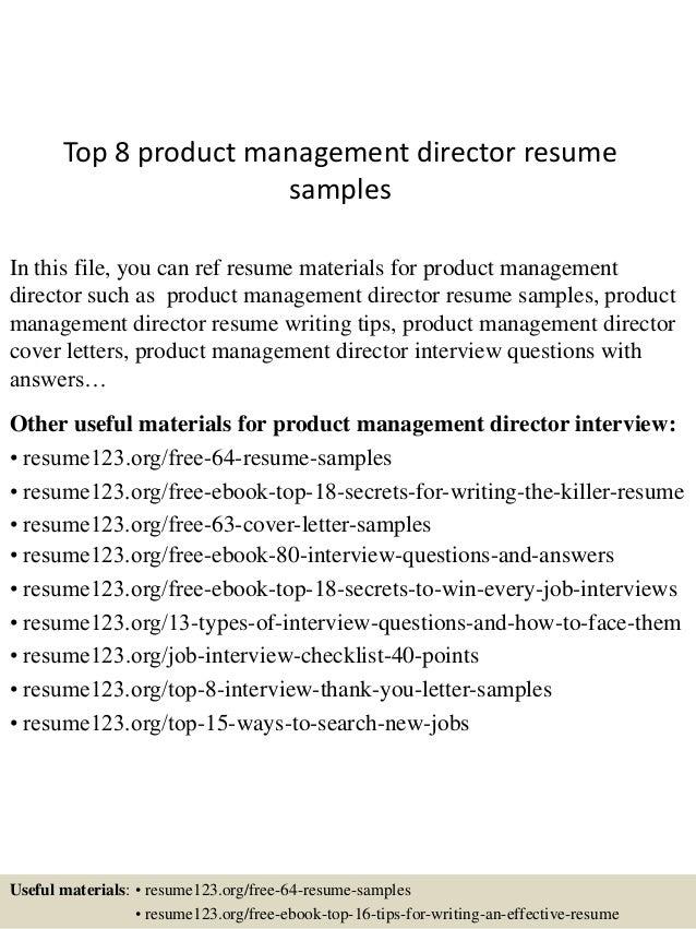 top8productmanagementdirectorresumesamples1638jpgcb 1431830712 – Managing Director Resume Sample