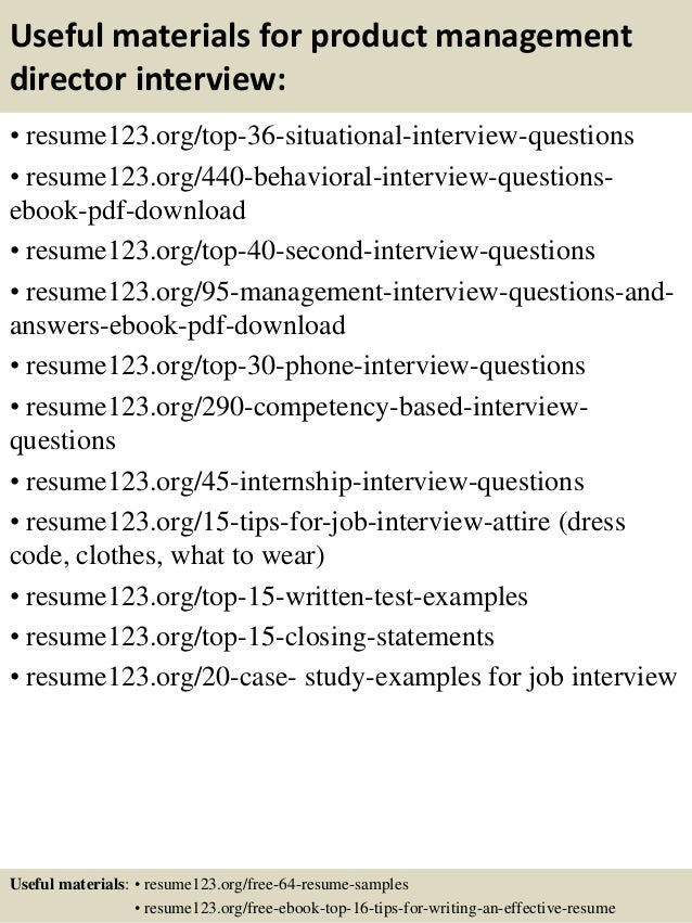 Top 8 product management director resume samples