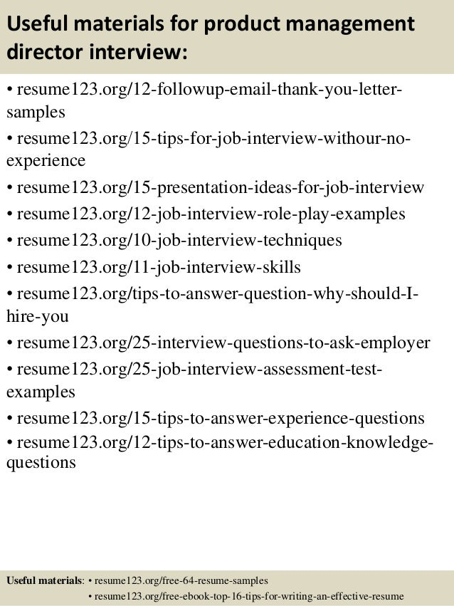 Top 8 product management director resume samples – Managing Director Resume Sample
