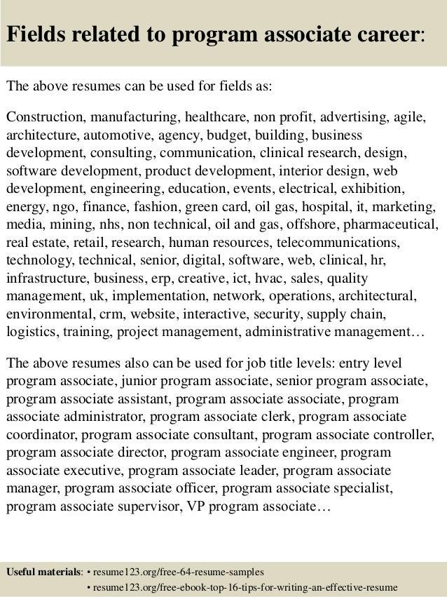 program for resumes