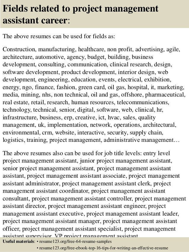 Top Project Management Assistant Resume Samples SlideShare Research  Scientist Resume Sample Data Scientist Resume Template Data  Pmp Resume Sample