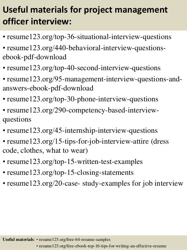... 12. Useful Materials For Project Management ...  Project Management Sample Resume