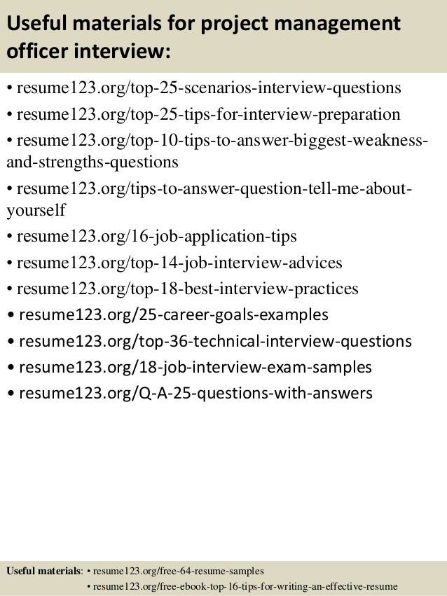 13 useful materials for project management - Sample Resumes For Project Managers
