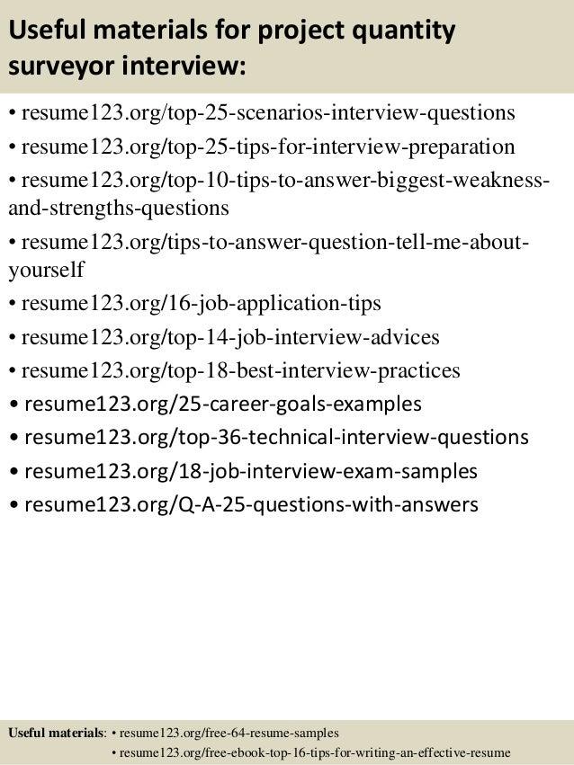 top 8 project quantity surveyor resume samples quantity surveyor resume