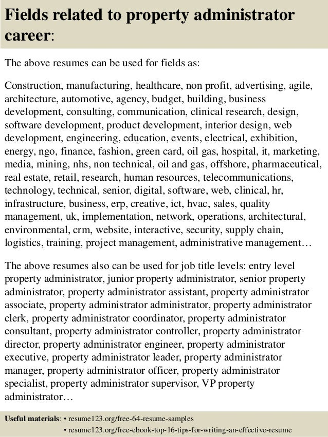 ... 16. Fields Related To Property Administrator ...