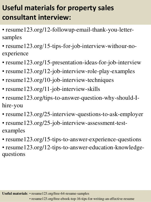Top 8 Property Sales Consultant Resume Samples