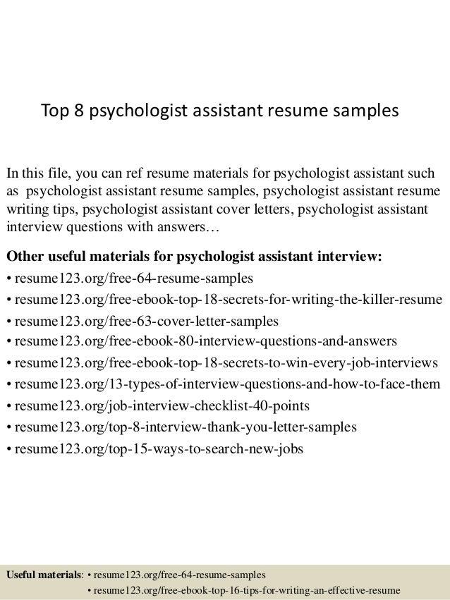 top 8 psychologist assistant resume samples 1 638 jpg cb 1432737498