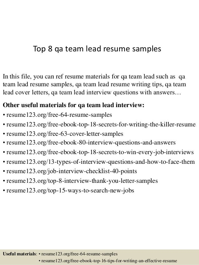 top 8 qa team lead resume samples 1 638 jpg cb 1433156827