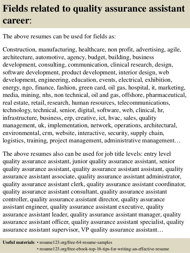 related post of pharmaceutical quality assurance resume samples